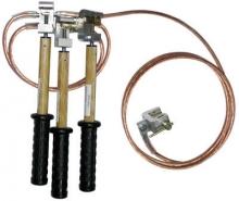 ПЗП-1000-3 (3/1) Заземление переносное для РП, до 1 кВ, сеч. проводника 16мм, 3 зажима алюминевых, 1 штанга,
